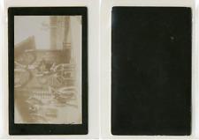 Préparatifs pour la chasse CDV vintage albumen Tirage albuminé