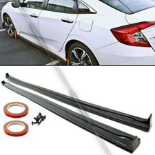 Fit 16-18 Honda Civic 4Dr Sedan Unpainted TCS Style Side Skirt Extension BodyKit