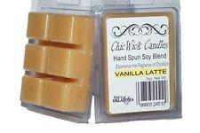 ChicWick 2Pack Vanilla Latte Wax Melts 6oz Wax Cubes Wax Chunks Wax Tarts