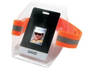 High Visibility Arm Band ID/Badge Holder Hi-Vis Orange Squids 3386HV New