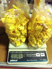 1lb of Assorted YELLOW Lego Bricks & Parts & Pieces Sold in Bulk by the Pound