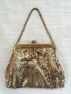 Vintage Whiting & Davis Gold Mesh Evening Bag/Purse