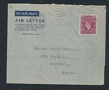 04214) GB / UK GA Aerogramme LF1 I, Camborne (?) 1947 > Canada