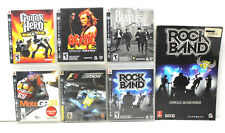 6 PS3 Playstation 3 Video Games Rock Band+Game Guide Moto GP+F1+Beatles+Guitar++