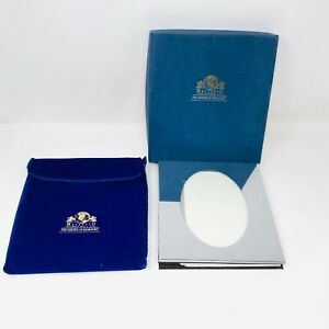 Melannco International Silver Mirror Photo Album With Box and Velvet Bag