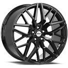 4-shift Spring 18x8 5x112 35mm Gloss Black Wheels Rims 18 Inch