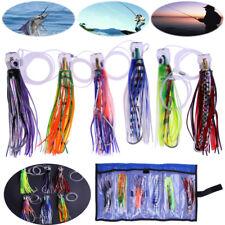 6pcs/set Fishing Lures Marlin Tuna Trolling Lures Fishing Baits Tackle +Mesh Bag