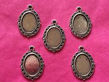 Tibetan Silver Mirror/Cadre charme #2 Pack de 5