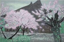KITAOKA FUMIO-Japanese-Hand Signed LIM.ED Color WB-Nanzenji Gate/Cherry Blossoms