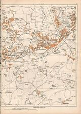 Town Head Sheffield Wadsley 288SW repro old map Yorkshire 1938