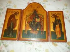 More details for vintage tryptych religious icon