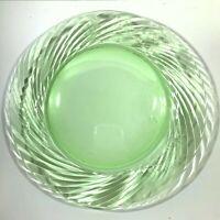 """Pyrex Festiva Spring Green Swirl Glass Serving Platter Chop Plate 12"""""""