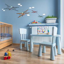 Colourful Air Plane Kids Wall Stickers Wall Decals Peel & Stick Removable