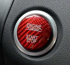 UK STOCK GENUINE CARBON Cap for Mercedes Keyless GO Engine Start Push Button RED