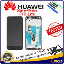 Monitor DISPLAY LCD TOUCH SCREEN + FRAME PER HUAWEI P10 LITE WAS-LX1A nero