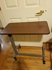 Adjustable Overbed Bedside Table With Wheels