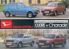 Daihatsu Cuore Charade Prospekt 1981 2/81 Autoprospekt brochure prospectus Auto