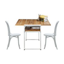 Extendable Restaurant Dining Table Computer Laptop Breakfast Desk Coffee Shop