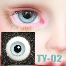 TATA glass eyes TY-02 14mm/16mm for BJD SD MSD 1/3 1/4 size doll use light blue