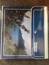 Awesome Vintage 1980s Blue MEAD TRAPPER KEEPER Mountain Nature Scene + 2 Folders