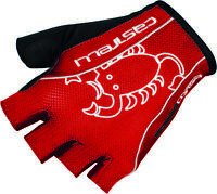 Castelli Rosso Corsa Men's Padded Summer Cycling Gloves Red ⚡⚡All Sizes ⚡⚡