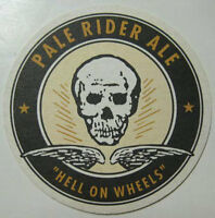 PALE RIDER ALE Beer COASTER Mat w/ Skull & WINGS Capitol City WASHINGTON DC 2003