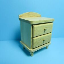 Dollhouse Miniature Night Stand / Side Table with Drawers - Oak ~ CLA10814