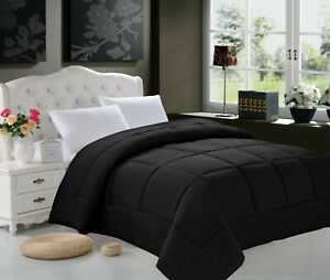 Down Alternative Comforter Bed Cover Set - 6 Solid Colors
