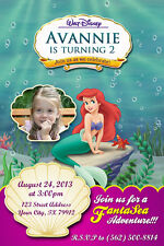 Invitation announcement printing services ebay disney little mermaid princess ariel birthday party invitation filmwisefo Choice Image