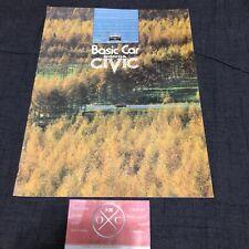 1G Honda Civic JDM Brochure CVCC 73-79 74 75 76 77 78 SB1 Catalog Rare Vintage