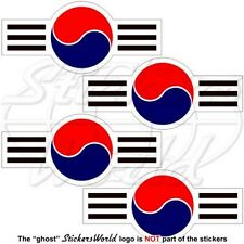 "SOUTH KOREA AirForce Aircraft Roundel ROKAF Korean 70mm(2,8"") Stickers Decals x4"