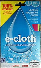 2x e-cloth Glass and Polishing Window Cleaning Cloth - 2 Cloths (TWIN PACK)