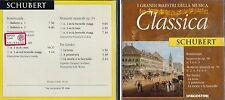 CD - 2B2 DE AGOSTINI I GRANDI MAESTRI DELLA MUSICA  CLASSICA  - SCHUBERT ( 500 )
