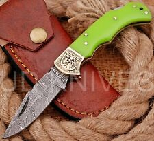 UD KNIVES CUSTOM HAND FORGED DAMASCUS STEEL POCKET FOLDING HUNTING KNIFE 7707