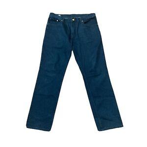 Roberto Cavalli Mens Black Denim Jeans Size 36 Straight Leg Mid Rise