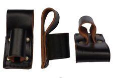 EX-RIOT POLICE CLUB HOLDER black leather scaffold holder hammer tools belt frog