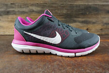 VGC! Nike Flex 2015 Run Womens Size 8 Running Shoes Gray Pink 709021-001