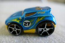 Mattel Hot Wheels Blue Metallic & Yellow #27 Rocket Box Toy Car T9629