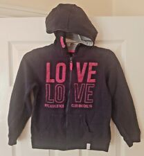 LOVE YD Blue Girl's Full Zip Tracksuit Hooded Top Track Jacket Size 9-10 Yrs