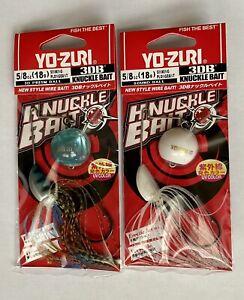 Lot of 2 Yo-Zuri Knuckle Bait 3DB Spinnerbait NIP 5/8oz Blue White
