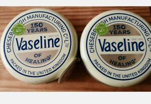 2 x  Vaseline 150 Years Selection Tin Lip  Therapy Cocoa Butter Aloe Rosy Lips
