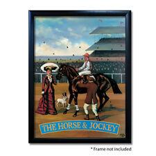 HORSE & JOCKEY PUB SIGN POSTER PRINT | Home Bar | Man Cave | Pub Memorabilia