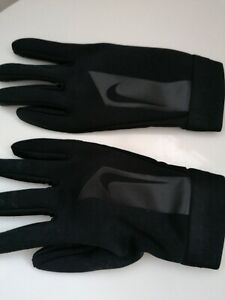 Boys NIKE hyperwarm Grip Gloves black size large