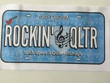 2018 Row by Row Experience Fabric License Plate - Rockin'🎼Qltr - North Carolina