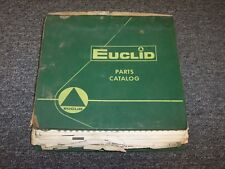 Terex Euclid TS14 Motor Scraper Factory Original Parts Catalog Manual Binder
