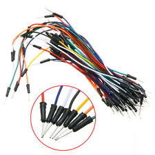 65pcs Solderless Prototype Breadboard Jumper Cables Leads Wires 120 240mm Fs
