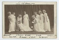 THEATRE ACTRESSES IN PANDORA PLAY, ST. PAUL, IMPERIAL CABINET PHOTO 1880s-1890s