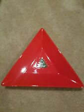 Waechtersbach Red Triangle Triangular PLATE Germany Christmas Tree 9 5/8""