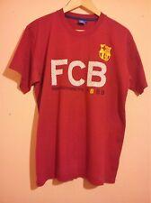 FC Barcelona Club Fútbol Rojo T Shirt 1899 dieciocho noventa 9 Talla L Grande en muy buena condición