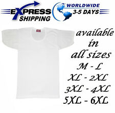 %100 Egyptian Cotton Top Tank Men Underwear Undershirt Vest Half Sleeve T-Shirt